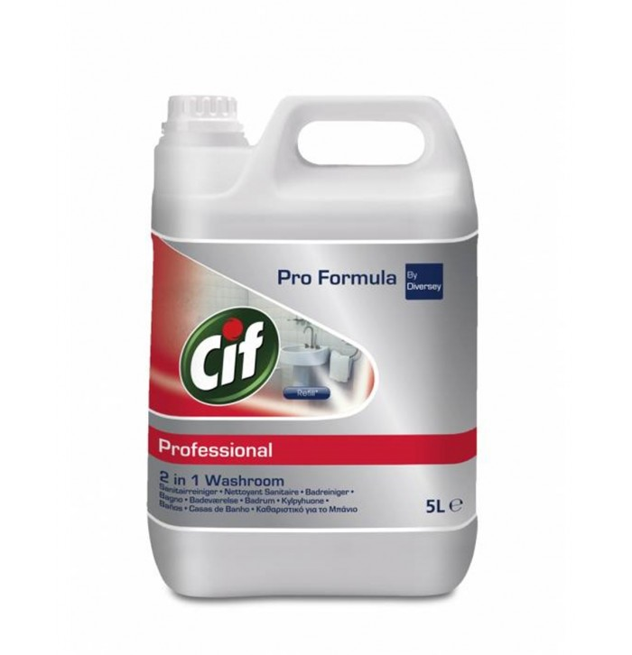 Cif Professional 2in1 Washroom Cleaner αφαλατικό μπάνιου 5lt